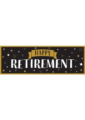 ***Happy Retirement Giant Party Banner