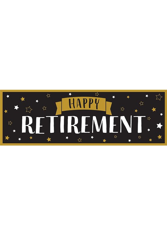 *****Happy Retirement Giant Party Banner