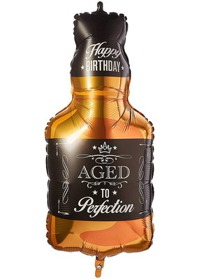 """***Aged to Perfection Whiskey 34"""" Mylar Balloon"""