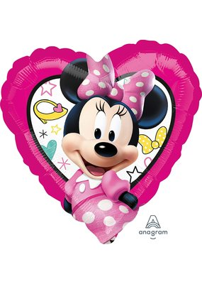 ***Minnie Mouse Heart Shape Mylar