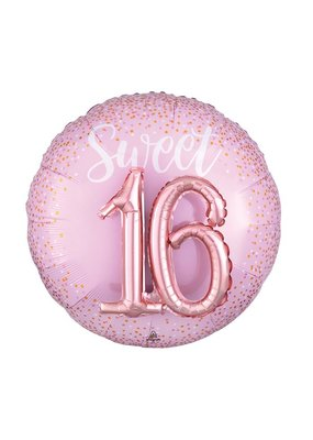 "***Sweet 16 Pink Jumbo 27"" Mylar Balloon"