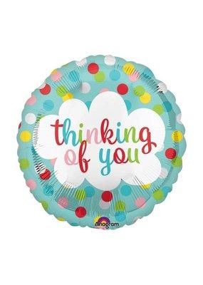 "***Thinking of You Dots 18"" Mylar Balloon"