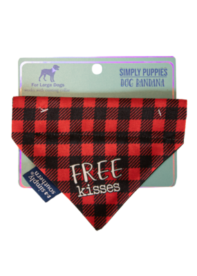 ***Simply Southern Dog Bandana Kiss