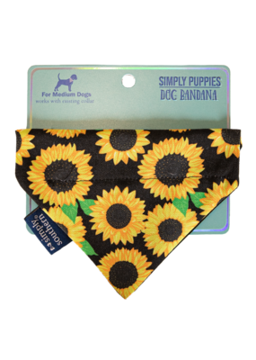 ***Simply Southern Dog Bandana Sunflowers