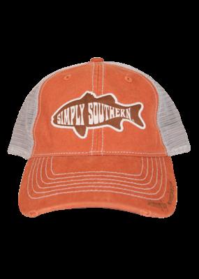 ***Simply Southern Orange Fish Hat