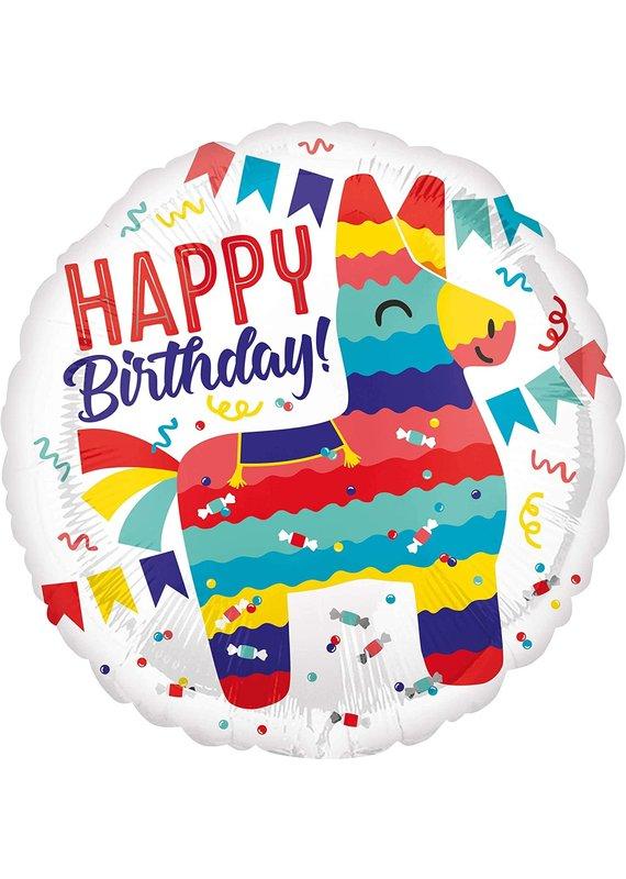 "***Happy Birthday Fiesta 18"" Mylar Balloon"