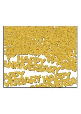 ***Gold Happy Anniversary Confetti