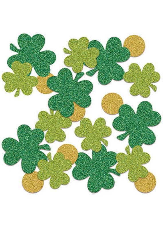 ****Shamrock & Coins Sparkle Confetti