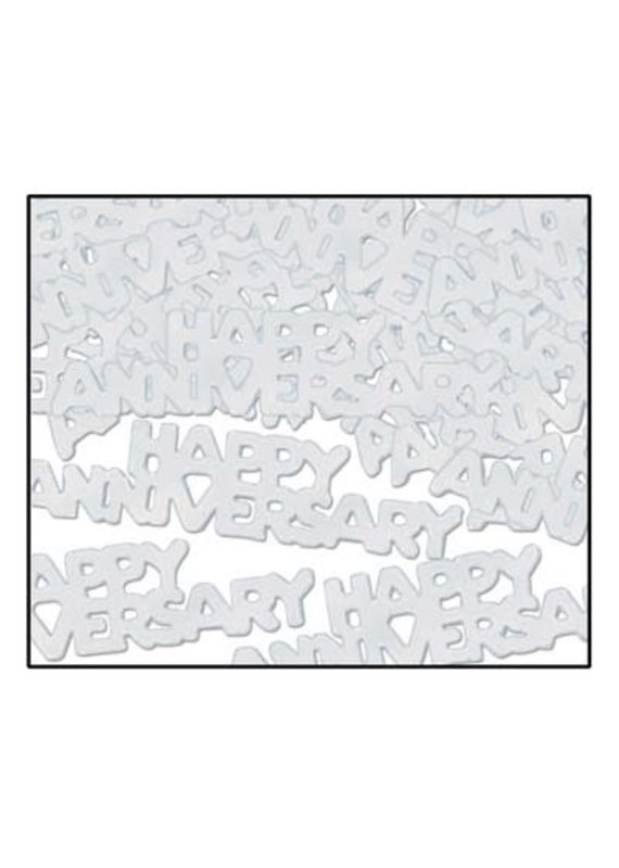 ***Silver Happy Anniversary Confetti