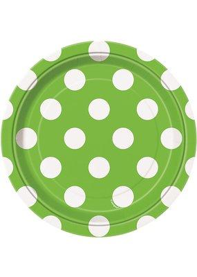 ***Green Dots 7in Dessert Plate