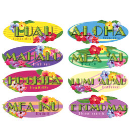 ***Hawaiian Sign Cutouts (8 Pieces)