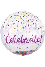 "***Confetti Celebrate 28"" Mylar Balloon"