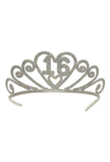 ***16 Metal Glittered Tiara