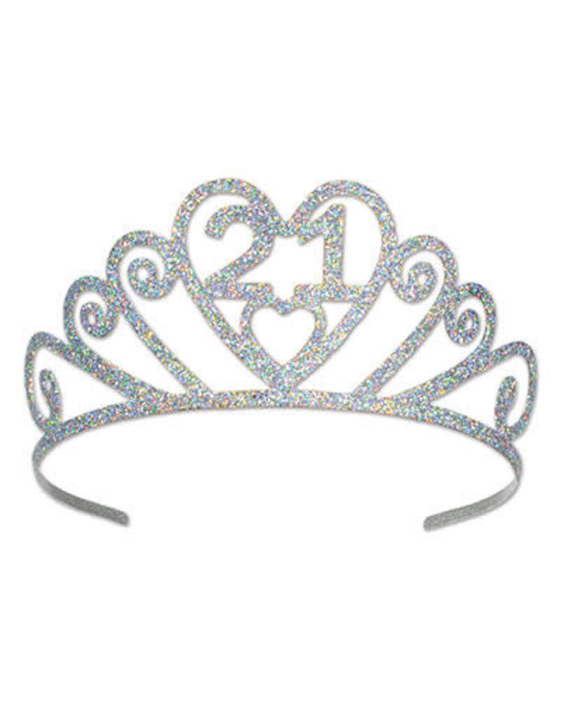 ***21st Metal Glittered Tiara