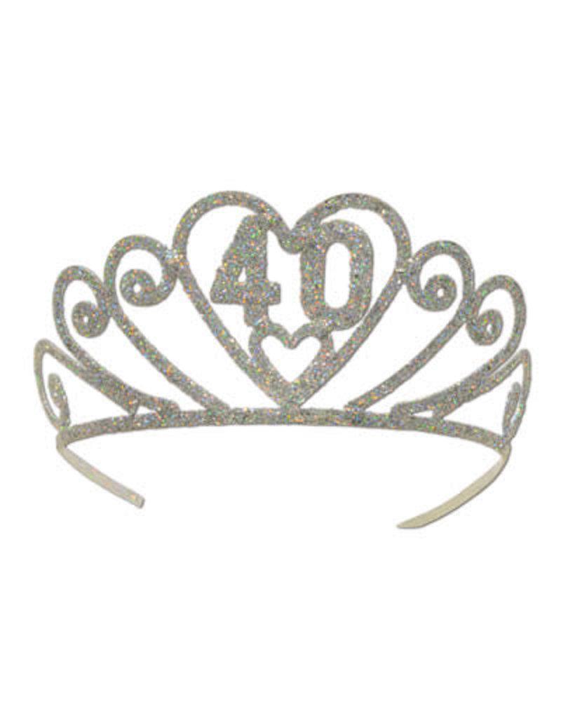 ***40 Metal Glittered Tiara