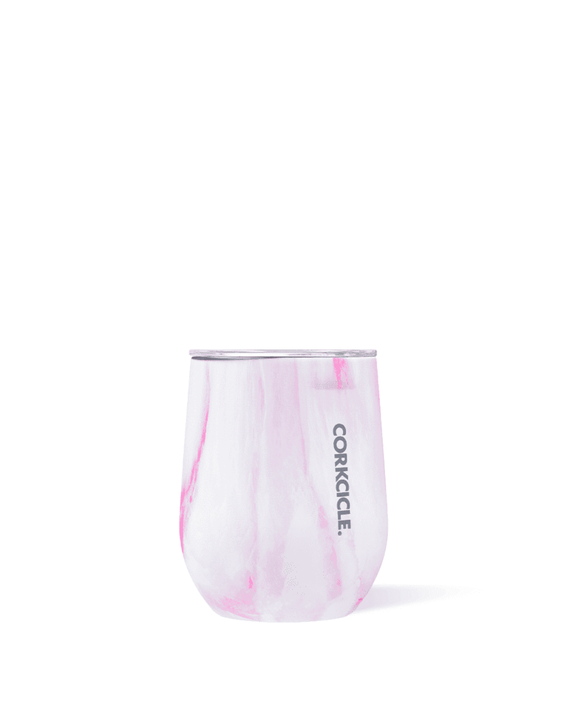 Corkcicle ***Corkcicle Pink Marble Stemless Wine