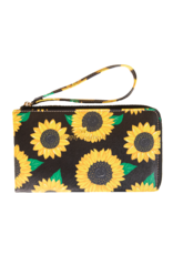 ***Simply Southern Leather Sunflower Wristlet