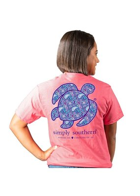 ***Simply Southern Short Sleeve Save Paisley Begonia