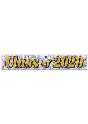 ***Class of 2020 Metallic Fringe Banner 14ft