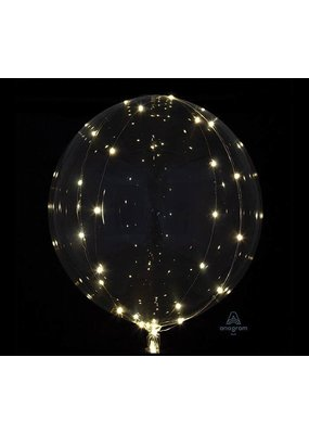 "***Crystal Clearz with White Lights 18"" Balloon"