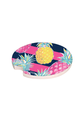 ***Simply Southern Happy Pineapple Car Coaster