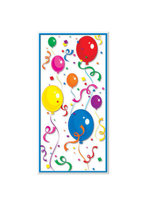 ***Balloons & Confetti Party Door Cover