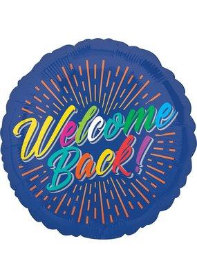 "***Welcome Back Burst 17"" Mylar Balloon"