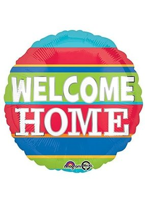 "***Welcome Home Stripes 18"" Mylar Balloon"