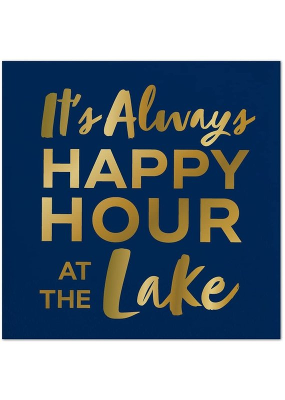 ***Happy Hour at the Lake Beverage Napkin
