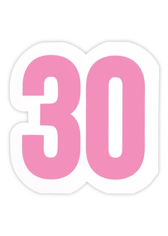 ***Large 30th Birthday Jumbo Shaped Napkins