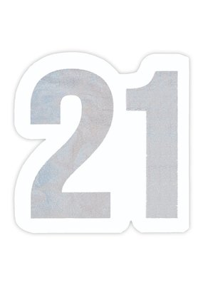 ***Large 21st Birthday Jumbo Shaped Napkins