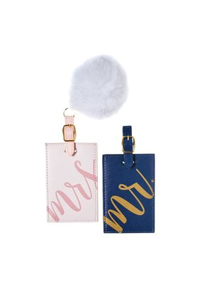 ***Mr & Mrs Pom Pom Luggage Tag