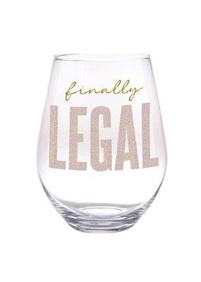 ***Finally Legal 21st Jumbo  Wine Glass