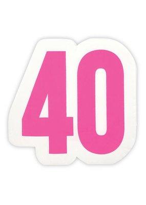 ***Large 40th Birthday Jumbo Shaped Napkins