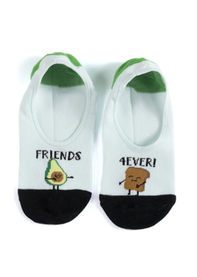 Shiraleah ***Forever Friends Avocado Toast No Show Socks
