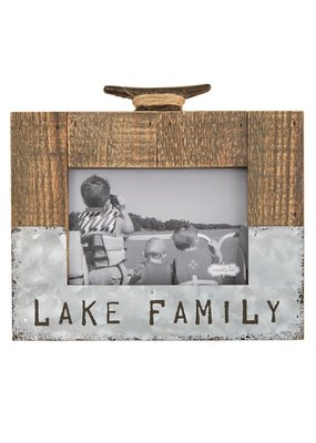 ***Lake Family Wood Picture Frame