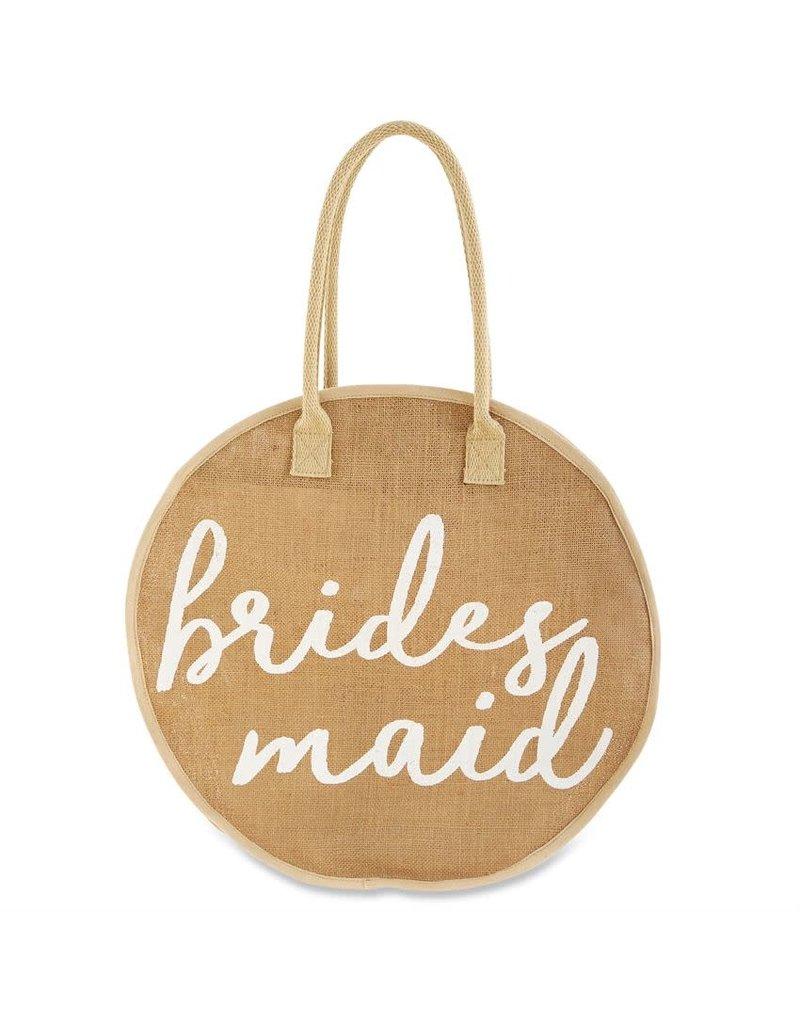 ***Bridesmaid Jute Round Tote