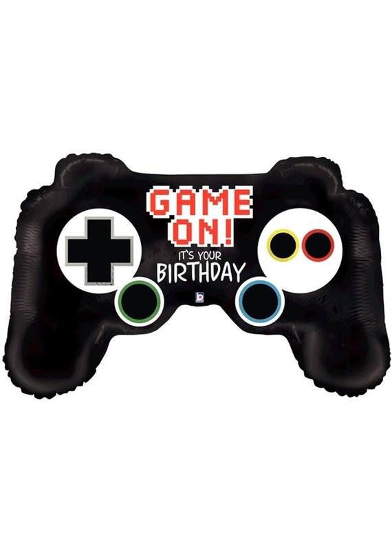 "****Game On Controller 36"" Mylar Balloon"