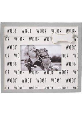 ***Woof Dog Bone Charm Photo Frame