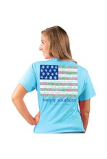 ***Simply Southern Short Sleeve Tropical Flag Pool