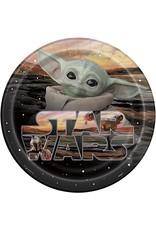 "***Star Wars Baby Yoda 9"" Dinner Plates 8ct"