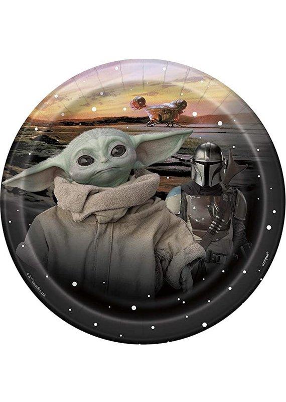 """****Star Wars Baby Yoda 7"""" Dessert Plates 8ct"""
