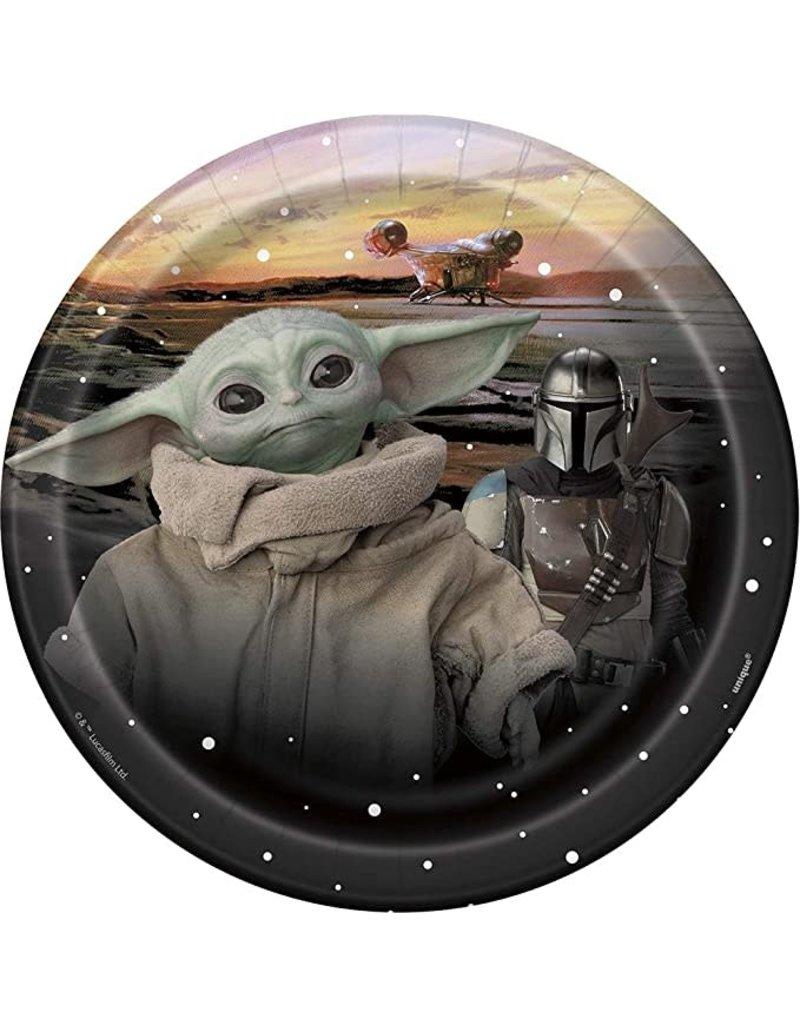 """***Star Wars Baby Yoda 7"""" Dessert Plates 8ct"""