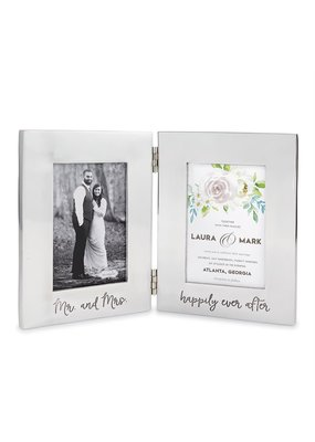 ***Bridal Engraved Folding Aluminum Frame