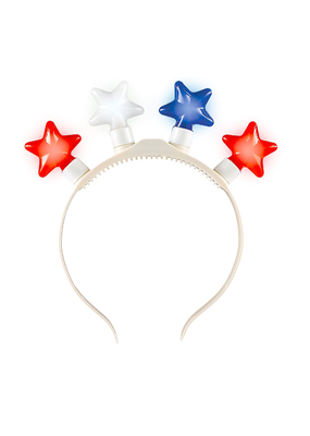 ****Light Up Patriotic Star Headband