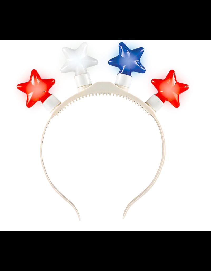 ***Light Up Patriotic Star Headband