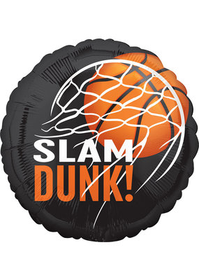 "***Slamdunk Nothin' but Net 18"" Foil Balloon"