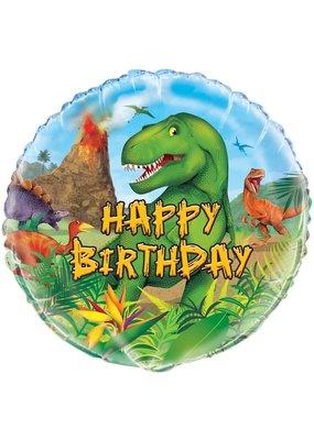 """***Dinosaur Happy Birthday 18"""" Balloon"""
