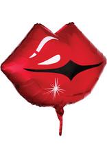 "***Kissy Lips 18"" Mylar Balloon"