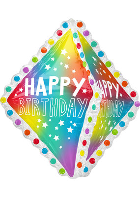 "***Happy Birthday Ruffle Jumbo 27"" Foil Balloon"